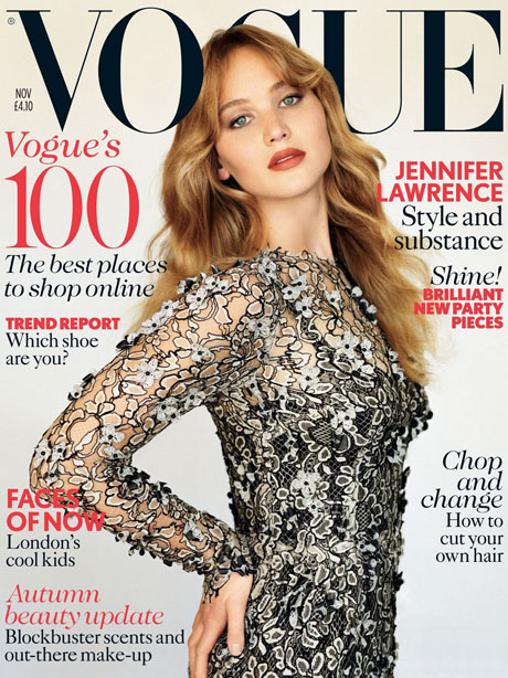 jennifer lawrence covers british vogue november 2012