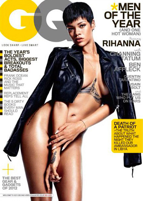 rihanna naked gq2012