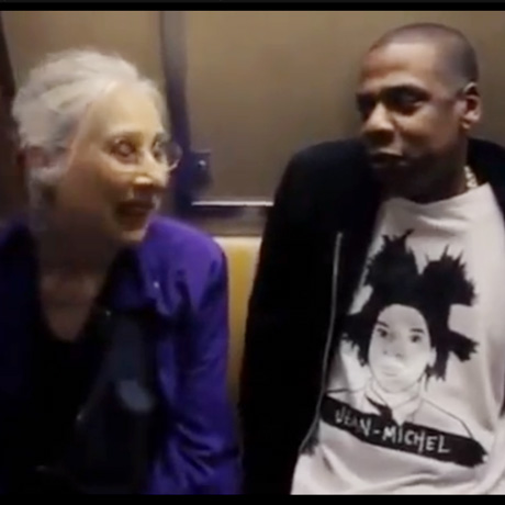 jayz subway oldlady