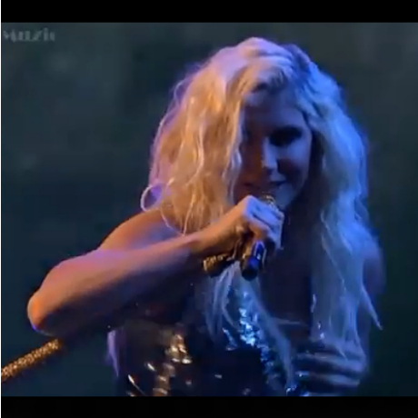 kesha gropes herself x factor1