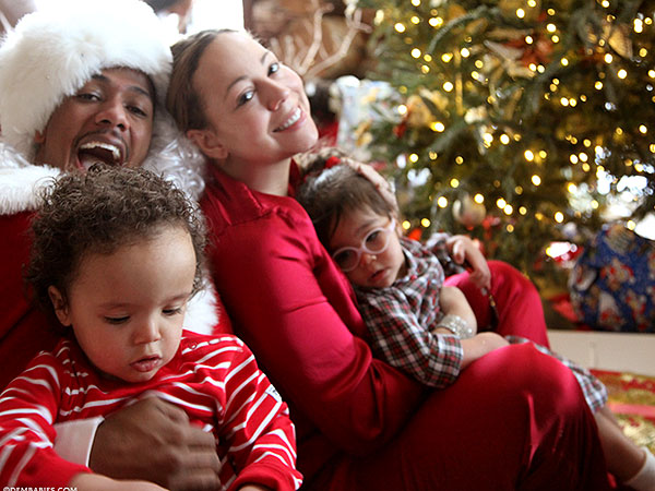 Mariah Carey Nick Cannon Twins Christmas