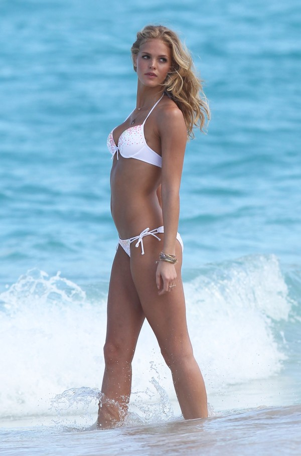 Erin Heatherton bikini beach victoria's secret photo shoot st. barts