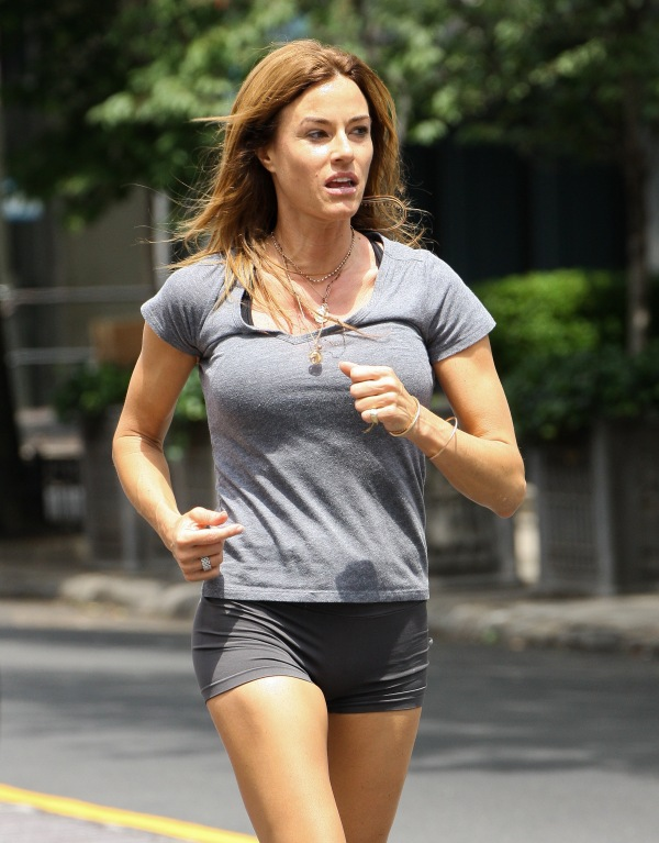 Kelly Bensimon Jogging in New York City