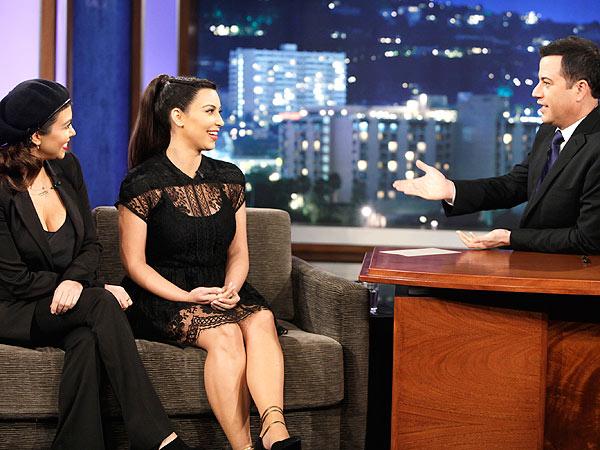 Kim Kardashian Jimmy Kimmel Live Appearance Baby Clothing