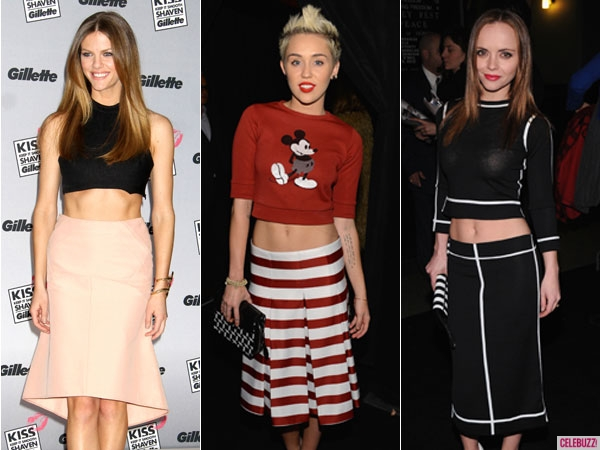 Celebs at crop tops